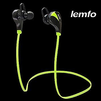 MU Lemfo Auricular Bluetooth Estéreo sudor prueba Deportes Funcionamiento Manos Auriculares inalámbrico gratuito en la oreja Auricular Auriculares con ...