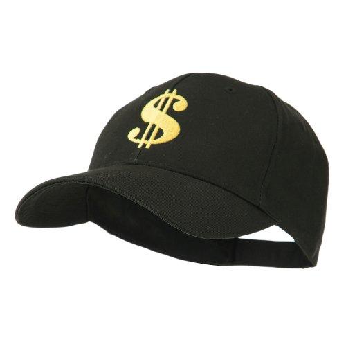 Dollar Sign Logo Embroidered Cap - Black OSFM