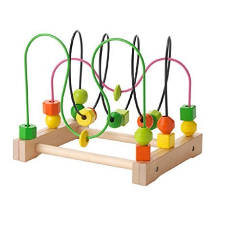 Ikea Wooden Bead Roller Coaster, Multicolor by SuperCoolStuff