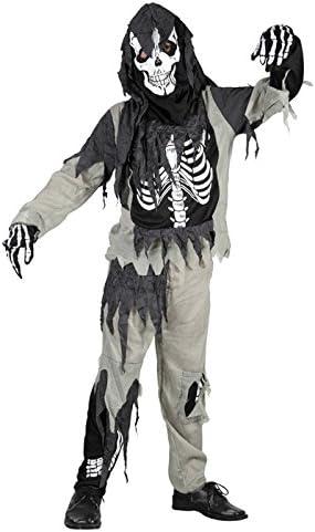 Para niños de-disfraz de Zombie-con diseño de esqueleto, 7-9 años ...