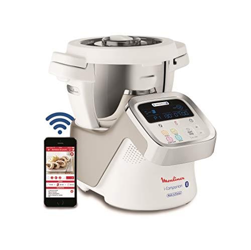 Moulinex i-Companion HF9001 – Robot de cocina Bluetooth 13 programas y 6 accesorios capacidad 6 personas, incluye…