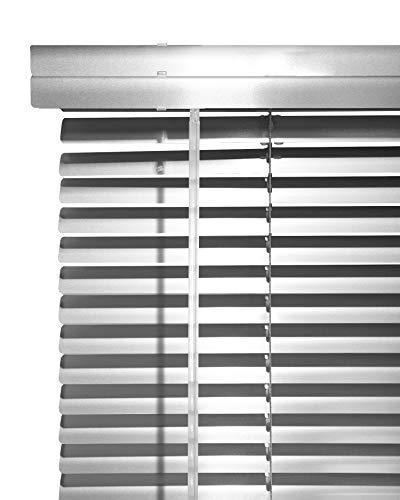 CHICOLOGY Custom Made Corded 1-Inch Aluminum Mini Blind, Blackout Horizontal Slats, Inside Mount, Room Darkening Perfect for Kitchen/Bedroom/Living Room/Office and More: 41″ W X 72″ H, Transparent