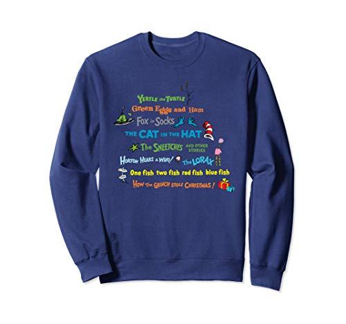 Dr. Seuss Book Title Sweatshirt