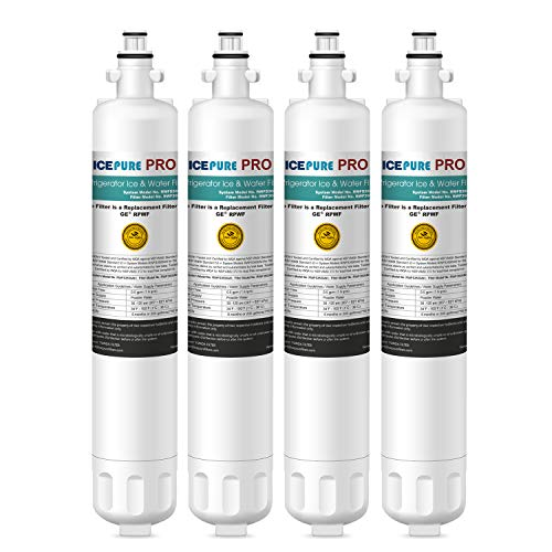 ICEPURE RPWF Refrigerator Water Filter Replacement For GE RPWF(NOT FOR GE RPWFE), WATER SENTINEl WSG-4, RWF3600A, 4PACK