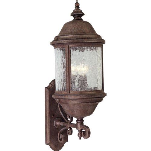 Progress Lighting P5653-33 3-Light Ashmore Cast Aluminum Wall Lantern, Cobblestone (Cobblestone Transitional)