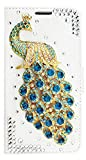 STENES Galaxy Note 9 Case - Stylish - 3D Handmade Bling Crystal Peacock Design Magnetic Wallet Credit Card Slots Fold Stand Leather Cover for Samsung Galaxy Note 9 - Green