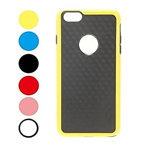 LIMME Rainbow Series 3D Cube Pattern Color Frame Case for iPhone 6 Plus (Assorted Colors) , Black