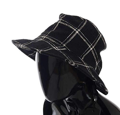 Dolce & Gabbana Black Virgin Wool Patterned Hat