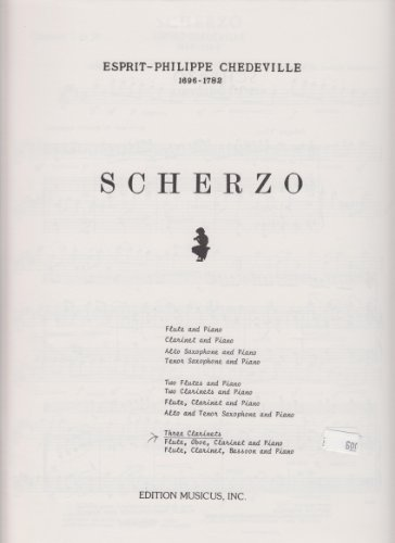 (Scherzo for 3 Clarinets by Espirit-Philippe Chedeville)
