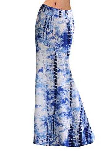 4 Trapze Jupe Dye Novias XL Tie Blue Boutique Medium Femme E7Bnzqw