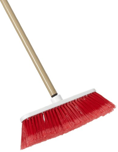 Zephyr 34060 Zip Sweep Plastic Soft Tip Broom with Plastic Handle, 12