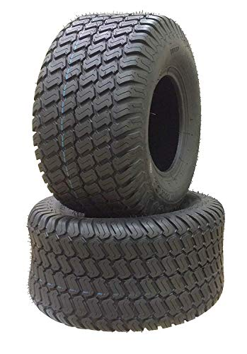 Antego Tire & Wheel Set of Two 18x8.50-8 4 Ply Turf Tires for Lawn & Garden Mowers 18x8.5-8