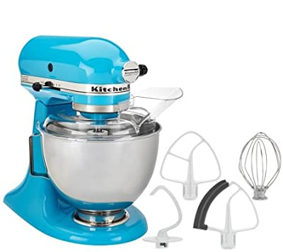 KitchenAid 4.5qt. 300W Tilt Head Stand Mixer with Flex crystal blue by KitchenAid