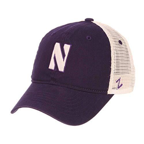 - NCAA Northwestern Wildcats Adult Men University Relaxed Cap, Adjustable, Team Color/Stone