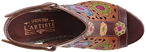 Brown Heeled Spring Sandal Step Belen Multi L'Artiste Women's WYxpAww
