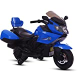 Baybee Satune Trike Motorcycle | 6V AH Battery Operator Sports Bike | Double Motor Ride On Bike | MP3 Player with 30 Kg Weight Capacity | Battery Powered Ride on Toys for Boys and Girls | Toddler and Up ( Blue )