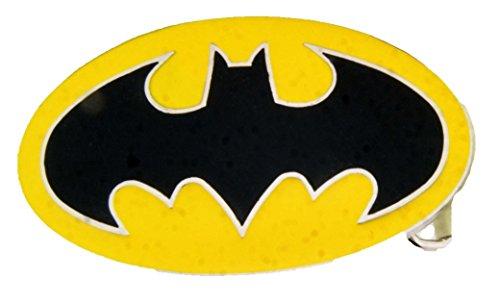Batman Dark Knight Rises Black Bat in Yellow Oval Finished Belt (Batman Arkham Asylum Halloween)
