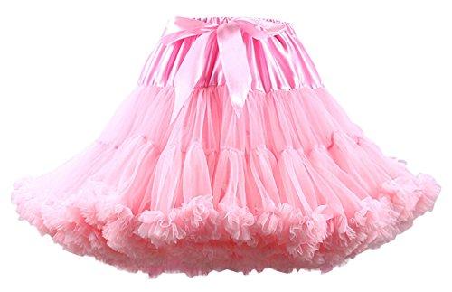 Booty Gal Women Short Petticoat Crinoline Underskirt Costumes Tutus Skirt (Cute Female Clown Costumes)