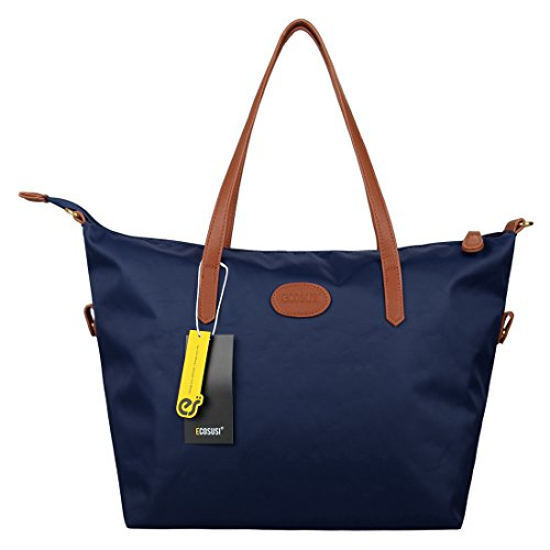 ecosusi-women-fashion-nylon-shoulder-tote-bag-medium-travel-handbags-blue-purse