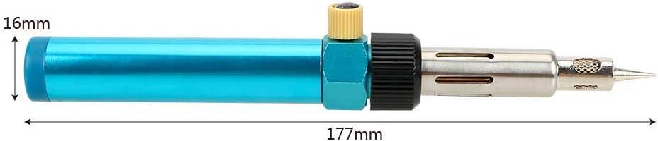 CuiGuoPing Einstellbare Temperatur Gasl/ötkolben Brenner Butanl/ötkolben Schnurlos Schwei/ßstift