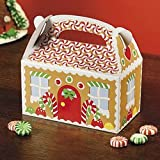 Fun Express Gingerbread House Cardboard Christmas Treat Boxes - 12 Piece Pack