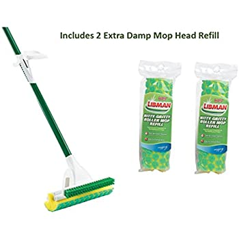 Amazon.com: Libman Nitty Gritty Roller Mop With 2 Extra ...