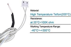 Anet 5pcs Termistor, NTC 3950 100K ohm Termistor para RepRap ...