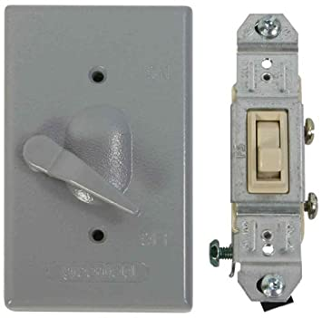 Amazon greenfield kdl1p weatherproof electrical box lever greenfield kdl1p weatherproof electrical box lever switch cover with single pole switch by greenfield mozeypictures Gallery