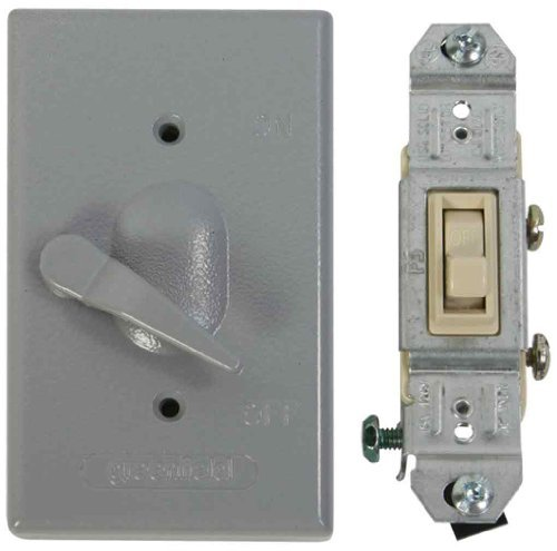 Amazon greenfield kdl1p weatherproof electrical box lever amazon greenfield kdl1p weatherproof electrical box lever switch cover with single pole switch by greenfield home kitchen mozeypictures Choice Image