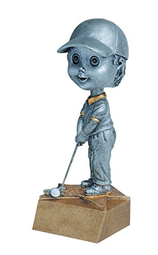 Bobble Head Award (Male Golfer Bobblehead Trophy - Golfing Bobble Head Award - Engraved Plate Upon Request - Decade Awards)