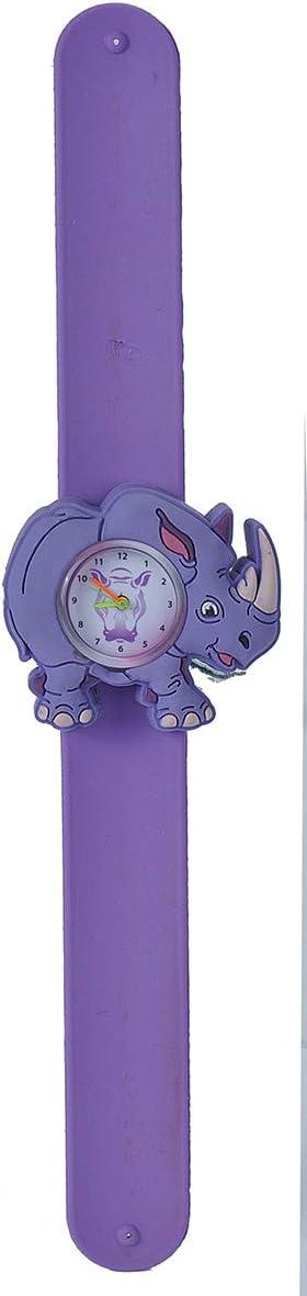 "Wild Republic Rhino, Slap Bracelets for Kids, Watch, Educational Toys, 9"""