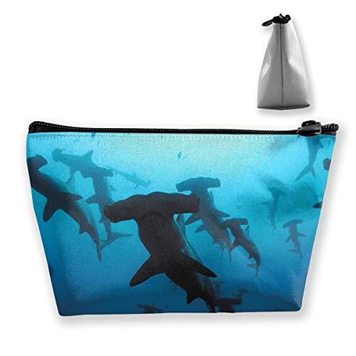 - Premium Makeup Case Clutch Bag, Hammerhead Sharks Travel Makeup Train Case Holder Large Capacity Carry On Bag, Luggage Pouch, Makeup Pouch] for Women Girls Ladies