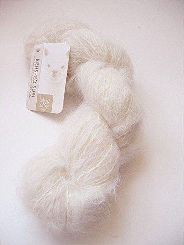 Alpaca Brushed Yarn - Blue Sky Alpacas Brushed Suri Yarn (900 Whipped Cream)