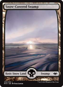 Magic: The Gathering - Snow-Covered Swamp - Modern Horizons -