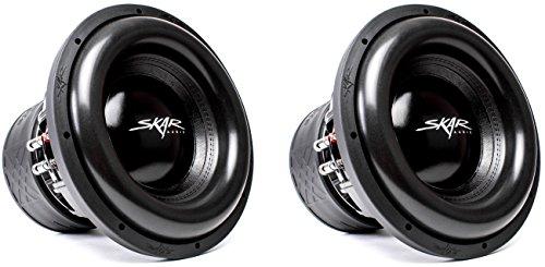 (2) Skar Audio ZVX-12v2 D2 12″ 3000W Max Power Dual 2 Ohm SPL Subwoofers