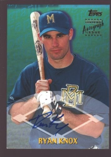 RYAN KNOX 2000 TOPPS TRADED ROOKIE ON CARD AUTOGRAPH AUTO RC SP BREWERS $8 (Topps Autograph Auto)