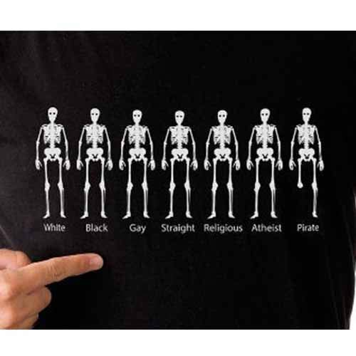 White Black Gay Straight Religious Atheist Pirate Shirt