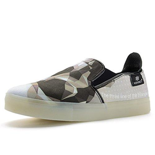Casual Chaussures Dress Adolescent Plein Air Mode Chaussures De Toile Glisser Sur Personnalité Noire B AUrcON