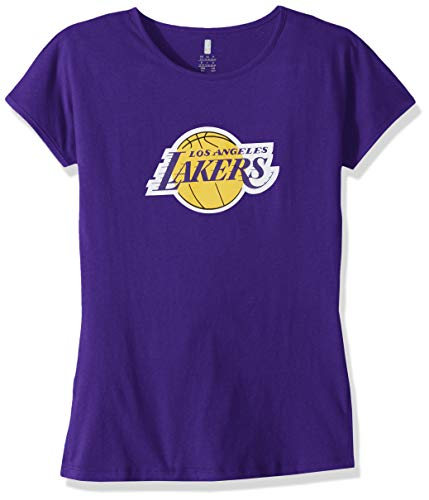 - NBA by Outerstuff NBA Youth Girls Los Angeles Lakers Primary Logo Short Sleeve Dolman Tee, Purple, Youth Small(7-8)