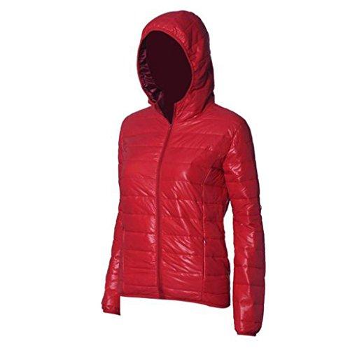 de mujer Rojo del GillBerry Slim Delgado Abrigo cálido Jacket Color Down caramelo Invierno qaxwddBFST