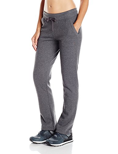 Champion Women's Fleece Open Bottom Pant, Granite Heather, - Bottoms Womens Running