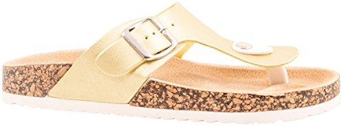 Elara - Zapatillas Mujer dorado