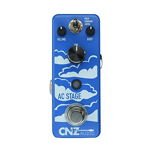 CNZ Audio AC Stage - Electric to Acoustic Guitar Effects Pedal, True Bypass