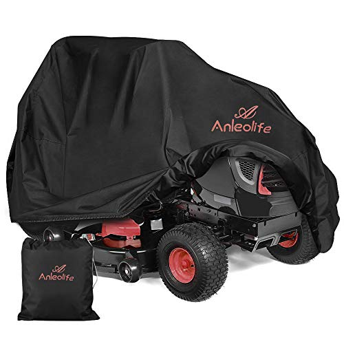 Anleolife Riding Lawn Mower Cover,All-Weather-Proof Garden Tractor Cover Up to 54