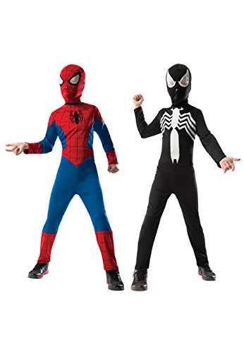 [Rubie's Marvel Ultimate Spider-Man 2-in-1 Reversible Spider-Man / Venom Costume, Child Small - Small One Color] (Spiderman 2 Child Costumes)