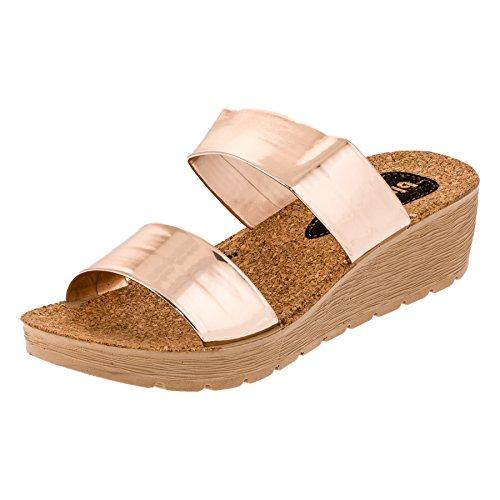 Sandals Or M294rogo Femme Rose Star Blu xF80vv