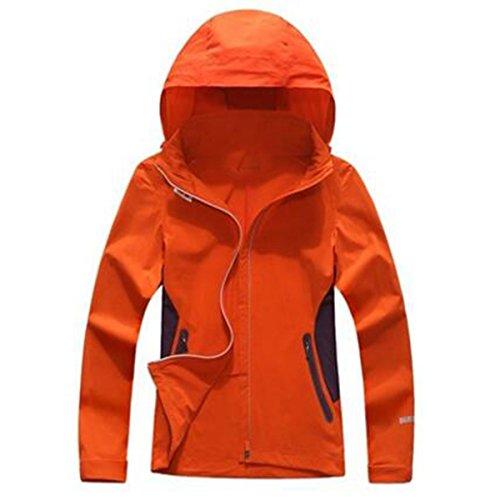 Primavera All'aperto Antivento Impermeabile Sottile Giacca Monoposto Giacche Orange Donna UwqHOO