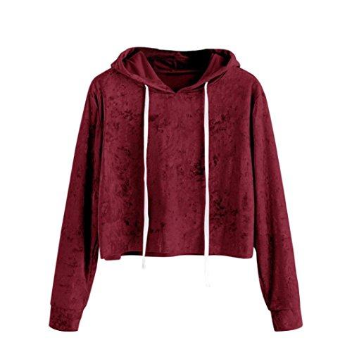 UONQD Women singlet baby simple sportswear knit collars uk woman w toponline teens holiday clutches ladys inc suit elegant sweaters wrap coloured chocolate (Medium,Wine) ()