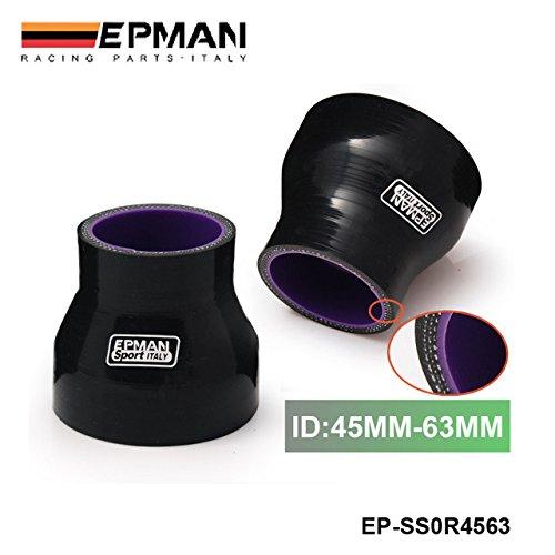 4, 5 - 6, 3 cm Turbo Intercooler 3 PLY tubo in silicone riduttore 45 mm-63 mm nero ep-ss0r4563 5- 6 3cm Turbo Intercooler 3PLY tubo in silicone riduttore 45mm-63mm nero ep-ss0r4563 EPMAN