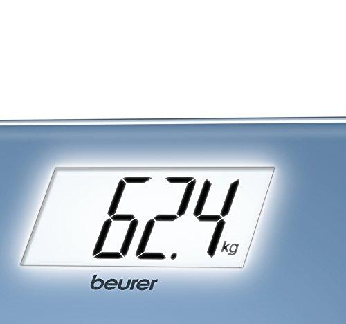 Beurer GS 208 - Báscula de baño de vidrio, pantalla LCD blanca, color azul: Amazon.es: Salud y cuidado personal